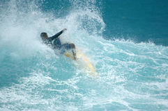 Surfista do Wipeout Fotografia de Stock Royalty Free