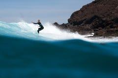 Surfista durante il corso di formazione Immagine Stock Libera da Diritti