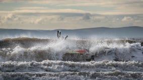 Surfista durante um wipeout Fotografia de Stock