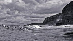 Surfista em uma onda grande Foto de Stock Royalty Free