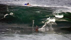 Surfista grande da onda Fotografia de Stock Royalty Free