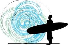Surfista. ilustração. Fotografia de Stock Royalty Free
