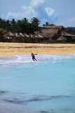 Surfista local em Lombok Indonésia Imagens de Stock Royalty Free