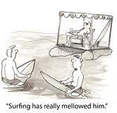 Surfista maduro Imagens de Stock