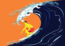 Surfista na ação ilustração royalty free