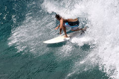Surfista nel ricciolo Immagine Stock Libera da Diritti