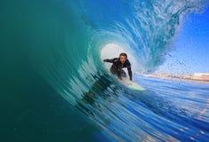 Surfista no tambor Fotografia de Stock Royalty Free