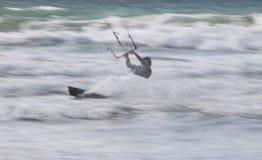 Surfista/pensionista do papagaio Fotos de Stock Royalty Free