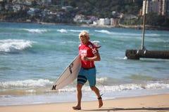 Surfista professionista - Andrian Buchan Fotografia Stock Libera da Diritti