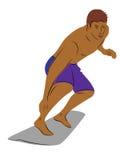 Surfista sul surf, illustrazione di vettore Immagine Stock Libera da Diritti