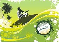 Surfista sulle onde illustrazione di stock