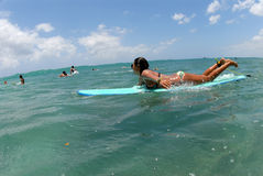 Surfista teenager del bikini Fotografia Stock