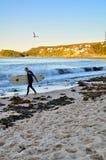 Surfista virile Immagini Stock