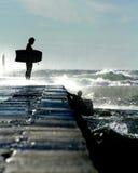 Surfistas bravos Fotografia de Stock