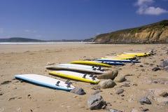 Surfistas de espera Foto de Stock Royalty Free