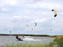 Surfistas do papagaio Imagens de Stock