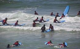 Surfistas novos Foto de Stock Royalty Free