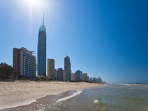 Surfistas paraíso, Gold Coast Fotografia de Stock Royalty Free