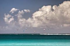 Surfisti del cervo volante Immagine Stock Libera da Diritti