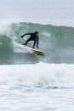 Surfisti di altezze della spiaggia Immagine Stock Libera da Diritti