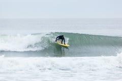 Surfisti di altezze della spiaggia Fotografie Stock Libere da Diritti