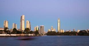 Surfisti paradiso, Gold Coast fotografie stock libere da diritti