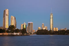 Surfisti paradiso, Gold Coast Immagine Stock