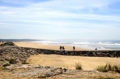 Surfisti sul pilastro Fotografia Stock
