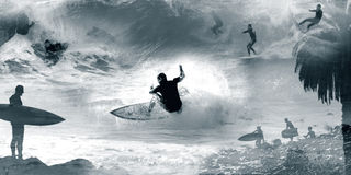 surfmontage1 Στοκ εικόνες με δικαίωμα ελεύθερης χρήσης