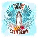 Surfować Deskową etykietkę Zdjęcie Royalty Free