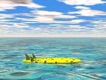 Surfplank bij het kalme overzees stock illustratie
