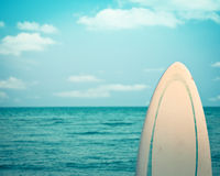 Surfplank. Dode rust Stock Foto's