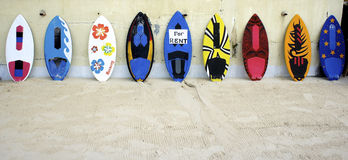Surfplanken Stock Foto