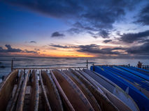 Surfplanken op Waikiki-Strand Royalty-vrije Stock Foto
