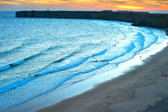 Surfpoint at sunset Royalty Free Stock Photography