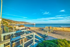 Surfrider beach in Malibu Royalty Free Stock Photos