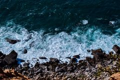 Surfs from Cabo da roca royalty free stock photo