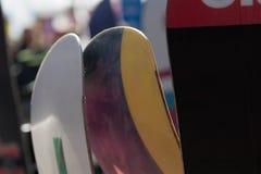 Surfs des neiges au repos Photographie stock libre de droits