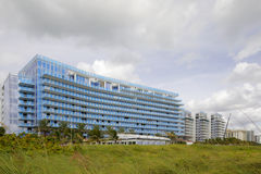 Surfside Florida buildings on the beach Royalty Free Stock Image