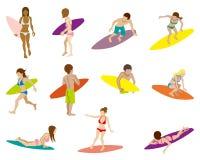 Surfujący ludzi setów, Odosobnionych ilustracji