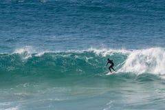 Surfujący w Fuerteventura, wyspy kanaryjska Zdjęcie Royalty Free