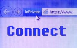 Surfuje internet łączy sieć Zdjęcia Stock