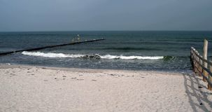 Surge of the Baltic Sea stock video