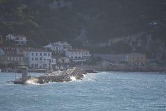 Surge of summer. Surge at the coast in Croatia stock image