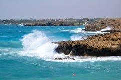Surge in the Gulf. Cape Greco or Cavo Greco, Agia Napa, Cyprus Stock Image