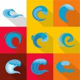 Surge icons set, flat style. Surge icons set. flat set of 9 surge vector icons for web isolated on white background Stock Images