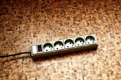 Surge protector. Electrical device for voltage regulation royalty free stock photo