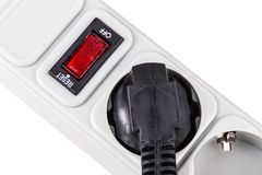 Surge protector plug Stock Images