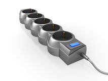 Surge protector (power strip). Computer generated image (3d render Stock Photo