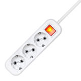 Surge protector on a white background Stock Photos